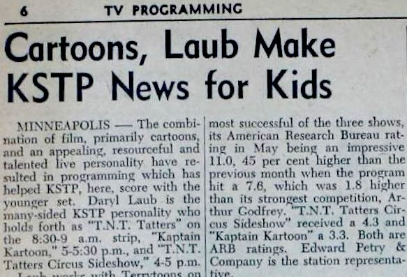 Daryl Laub 1956 article